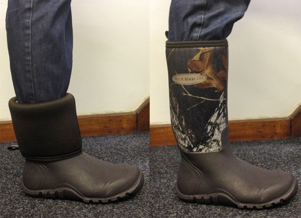 Easiest way to put on your Muck Boots? Roll down the upper first, then