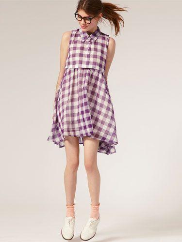 Lavender gingham dress from ASOS