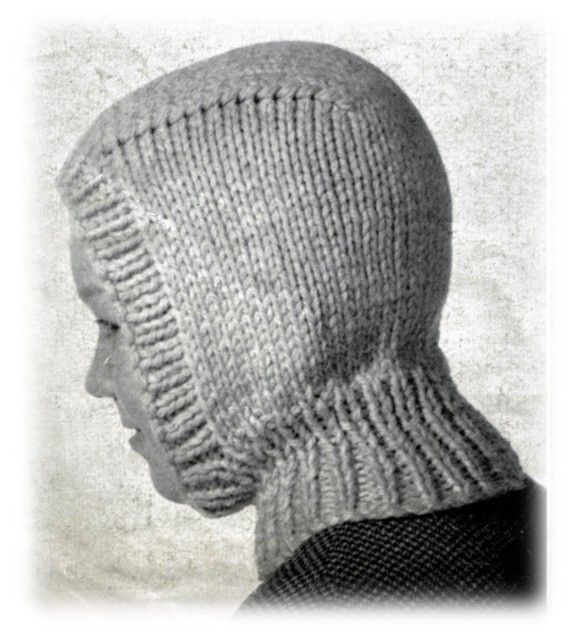 Vintage Boys Balaclava Hoodie Knitting Pattern - PDF EMail Delivery ...