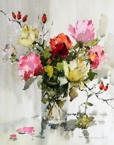 Marjorie Best Watercolors Pesquisa Google Floral Watercolor