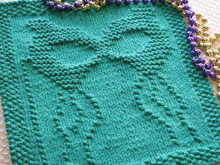 One Crafty Mama: Mardi Gras Dishcloth
