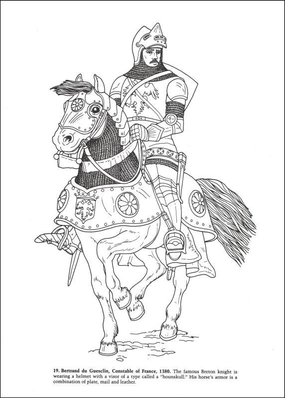 Knights and Armor Coloring Book | Additional Photo (Inside ...