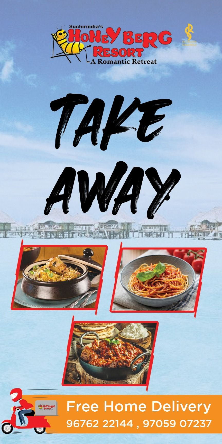 Take Away Food Standee In 2020 Food Delivery Restaurant Design Romantic Retreat
