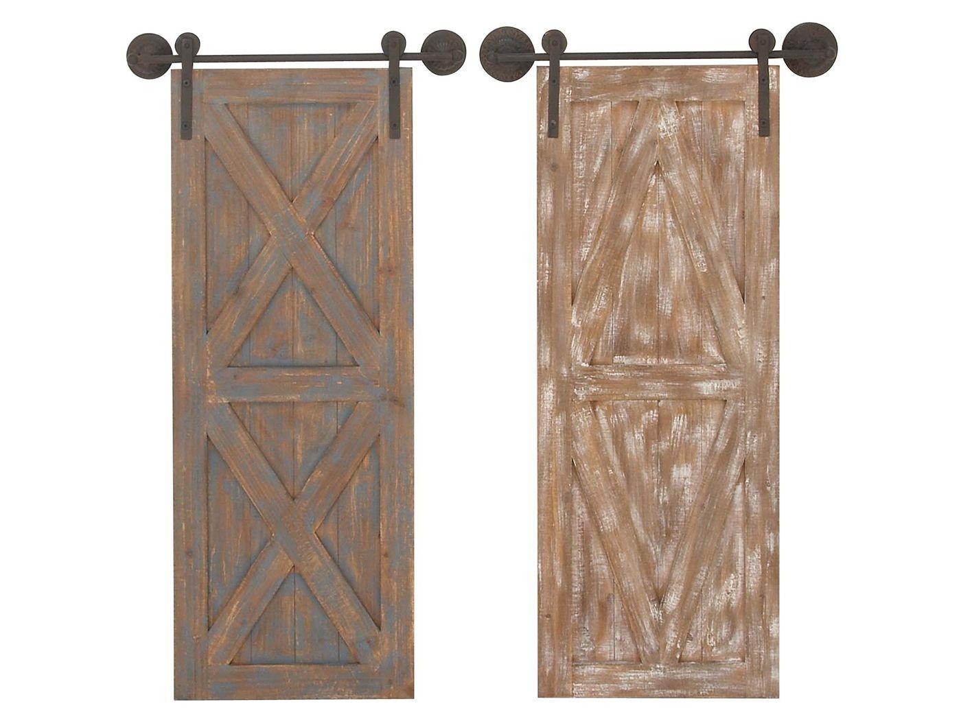 Wood And Metal Door Wall Decor Fair Barn Door Wall Decor  Wall Ideas  Pinterest  Barn Doors Wall Review