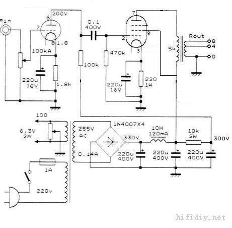 6n2   6p1 2  tube amplifier