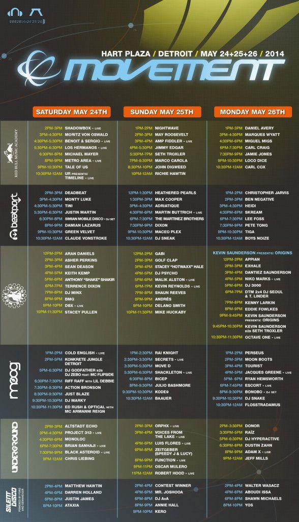 Movement Demf 2014 Schedule Dj Frequencies Event Schedule