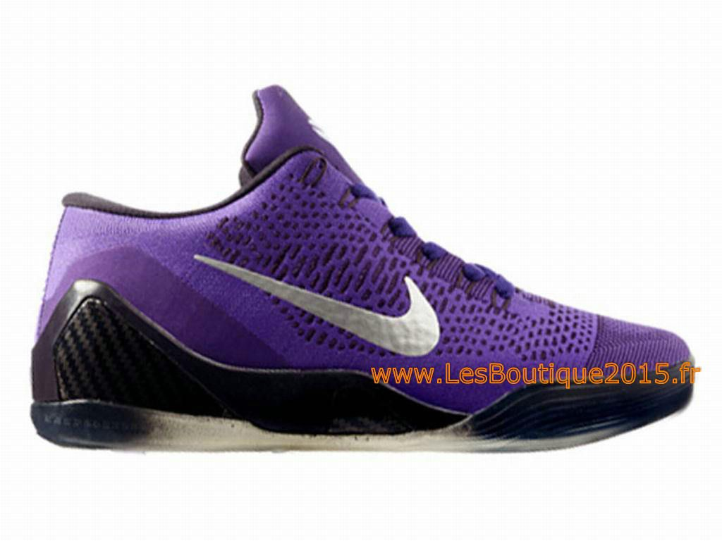 Nike Kobe IX Elite Low iD Chaussures Nike 2015 Pour Homme Noir/Violet  639045-