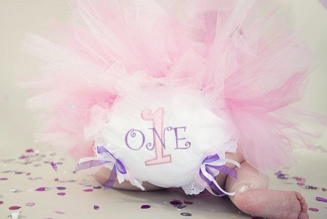1st Birthday Bloomers appliqué diaper covers appink and purplel diva princess by lettersandlollipops on Etsy