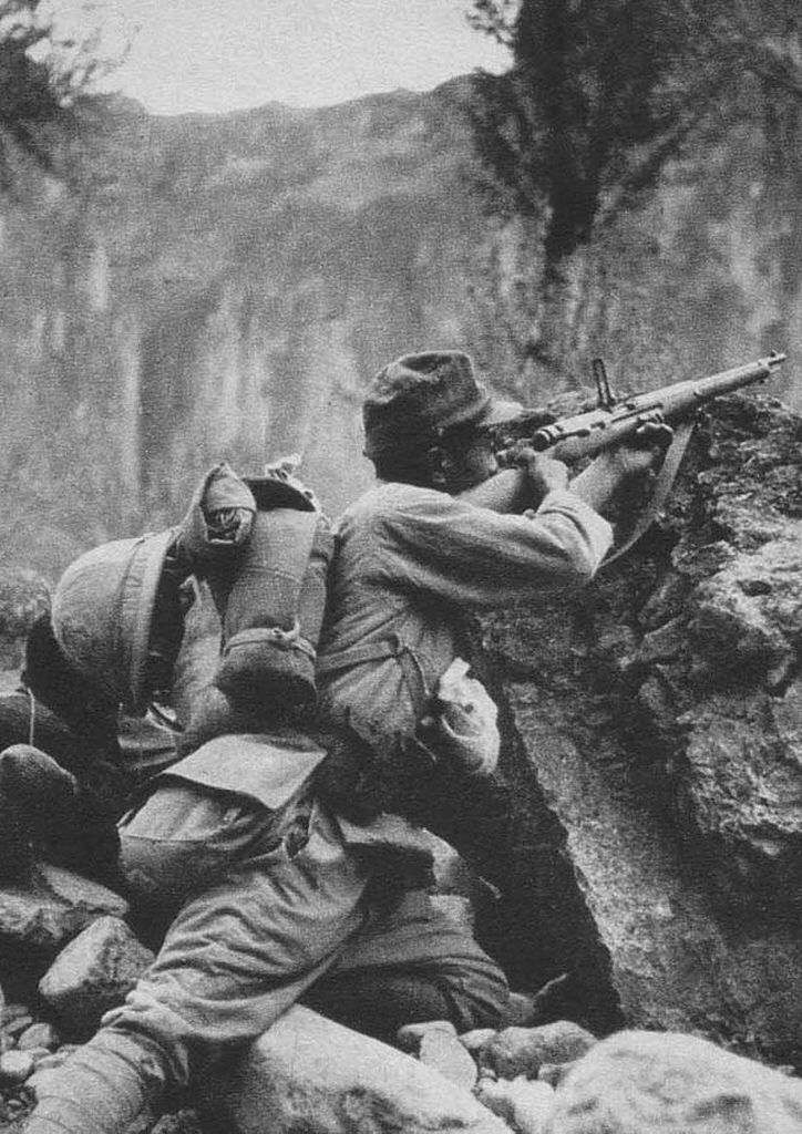 Japanese soldier using a type 99 arisaka rifle like a sniper during japanese soldier using a type 99 arisaka rifle like a sniper during the invasion of indochina publicscrutiny Choice Image