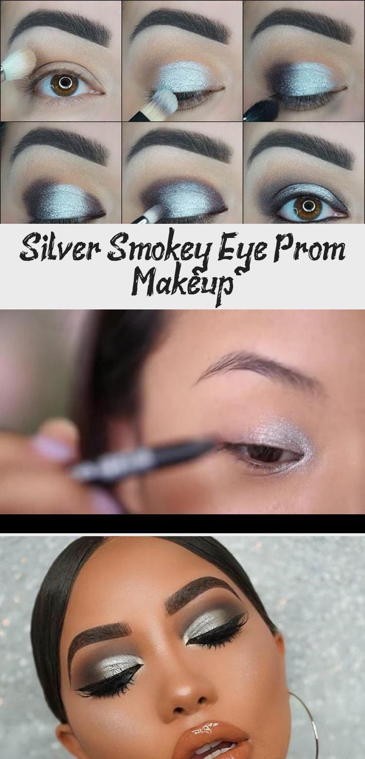 Silver Smokey Eye Prom Makeup