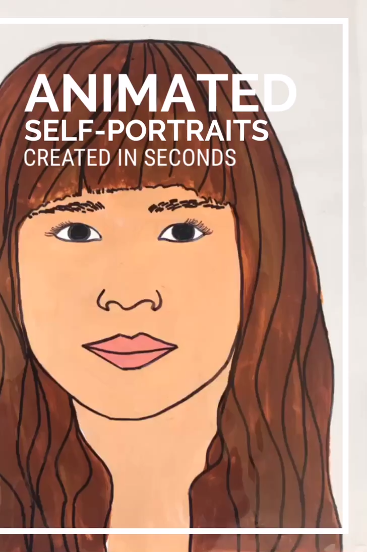 Animated Self-Portrait Created in seconds #powerpoint
