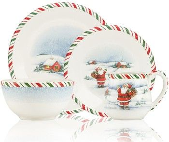 Dinnerware Depot Dinnerware Sets China Place Settings Dishes Tableware For Sale Kathy Ireland Home By Christmas Tableware Christmas Items Dinnerware Sets
