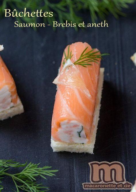 Minis bûchettes saumon - brebis et aneth - Macaronette et cie #repasnouvelan