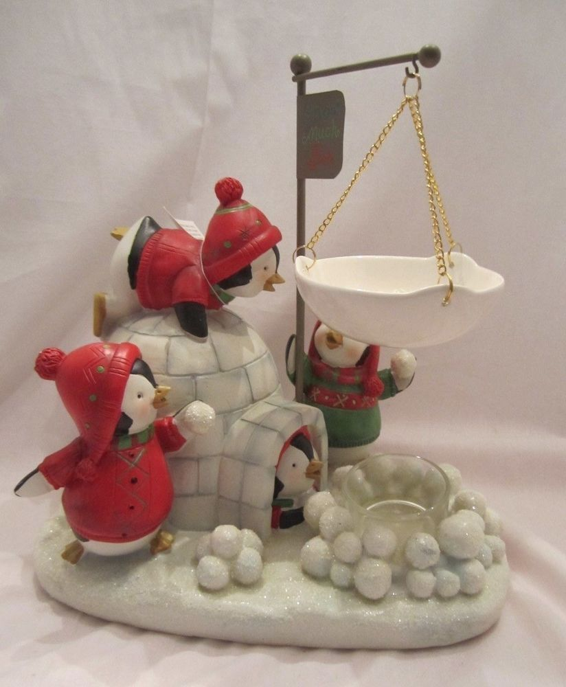 Yankee Candle Christmas Penguins Igloo Tart Warmer Burmer Snowballs Wax Melts Yankee Candle Christmas Candle Wax Warmer Yankee Candle