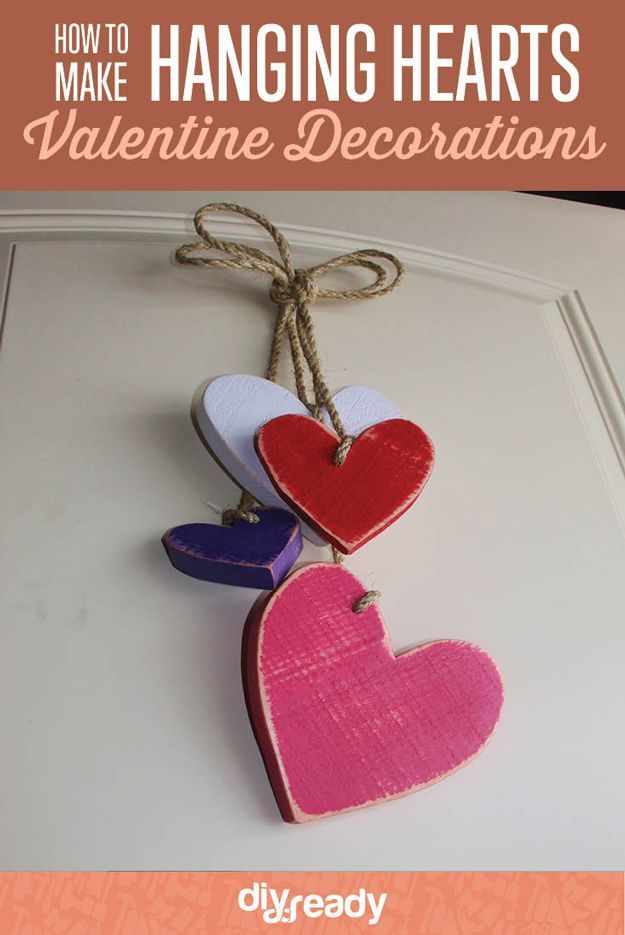 Diamonds Wooden Hanging Heart Home Decoration Valentines Gift Present