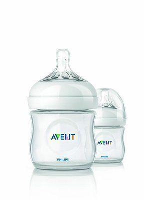 Philips AVENT SCF690/27 Natural Polypropylene Bottle BPA Free Clear 4 oz, 2 Pack