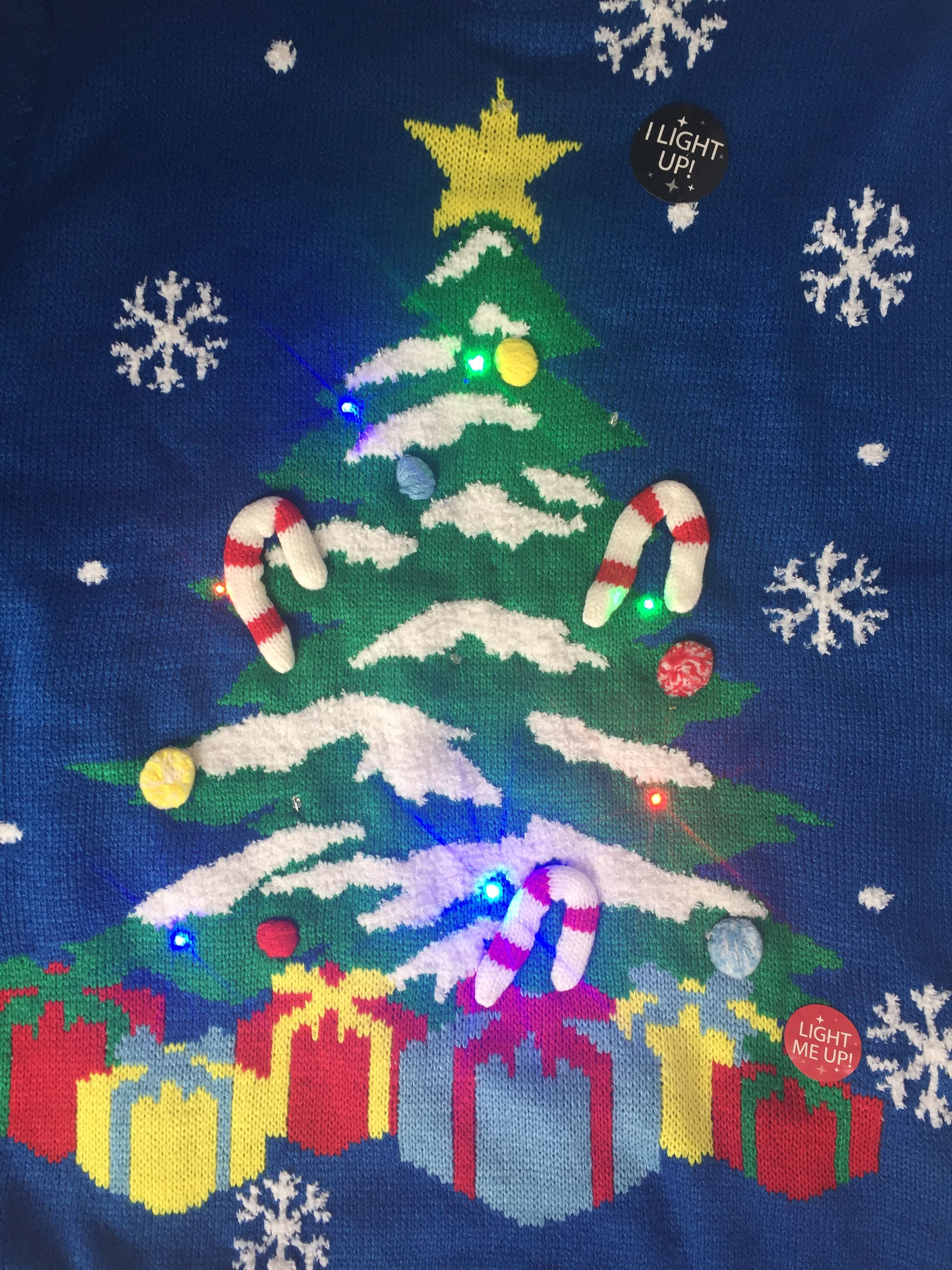 Details About Bnwt Primark Christmas Jumpers I Light Up Christmas Tree S M L Primark Christmas Xmas Jumpers Christmas Tree Jumper