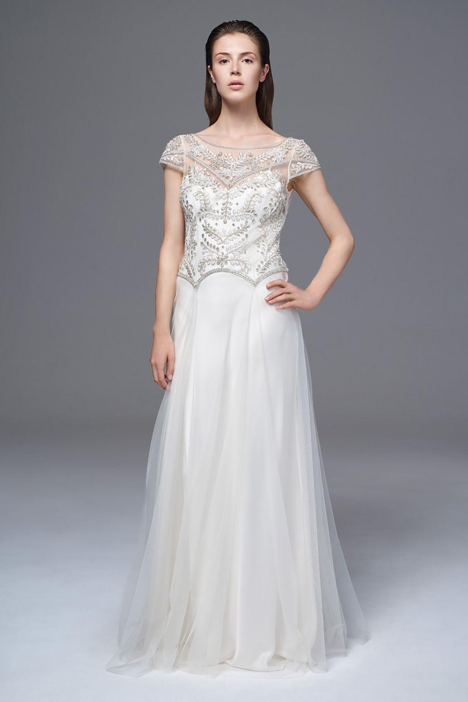 Dropped waist wedding dress  Marianne  Vintage wedding inspiration and Vintage weddings