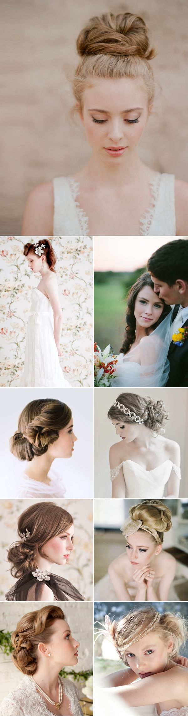 16 Natural and Elegant Bridal Hairstyles | Bridal hairstyles, Bridal ...
