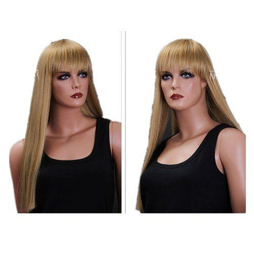 SureWells Nice wigs New Style Neat Bands Golden Blonde Long Straight Wigs for Women Ladies and Girl Hair Full Wigs New Products 15% Off by SureWells. $25.79. Save 68%!