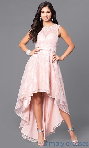Lace High Low Sleeveless Semi Formal Party Dress Jugendweihe