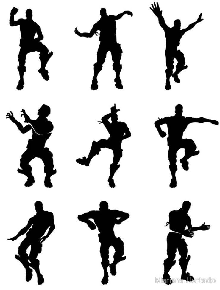 Fortnite Dance Poster Dance Silhouette Small Canvas Prints