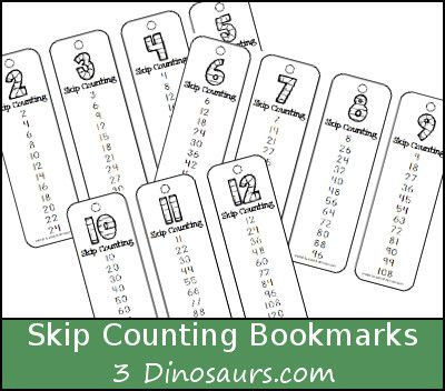 free skip counting bookmarks number 2 through 12 skip counting 12 times. Black Bedroom Furniture Sets. Home Design Ideas