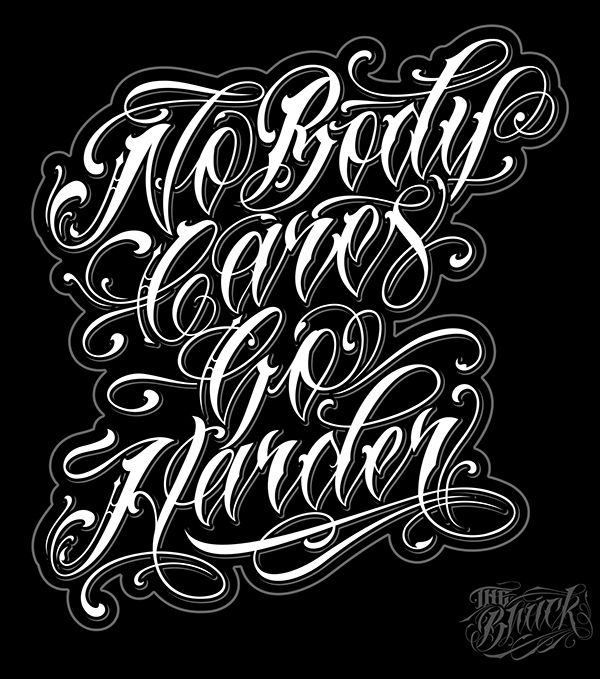 Tattoo Designs Writing: Lettering 4 On Typography Served