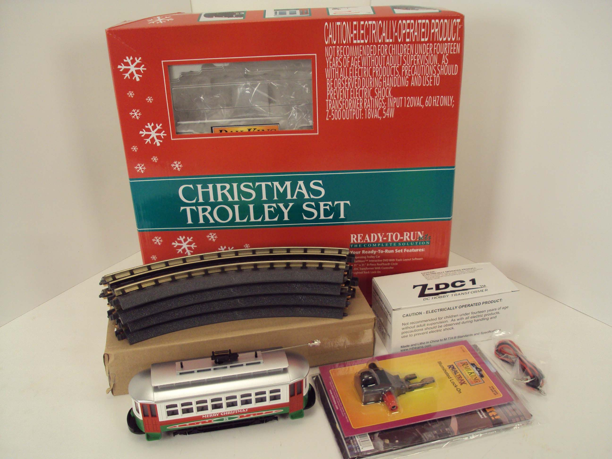 MTH Electric Trains Christmas Trolley R-T-R Train Set 30-4172-1  http://www.mthtrains.com/content/30-4172-1
