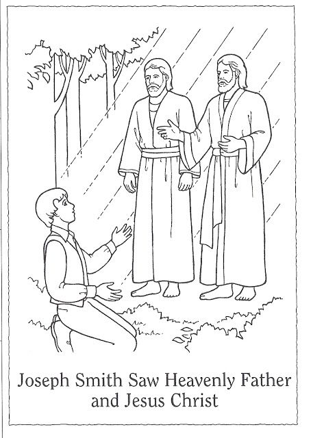 Primary 3 Lesson 5 The First Vision Coloring Page Lds
