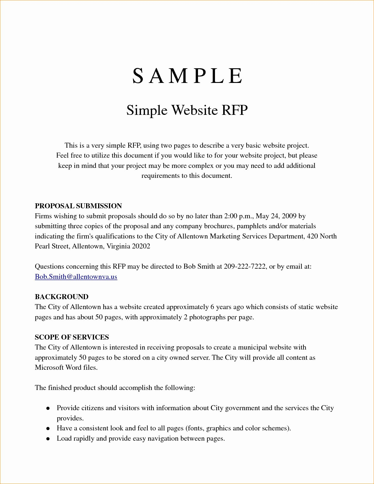 Sample Project Proposal Template In 2020 Free Resume Template