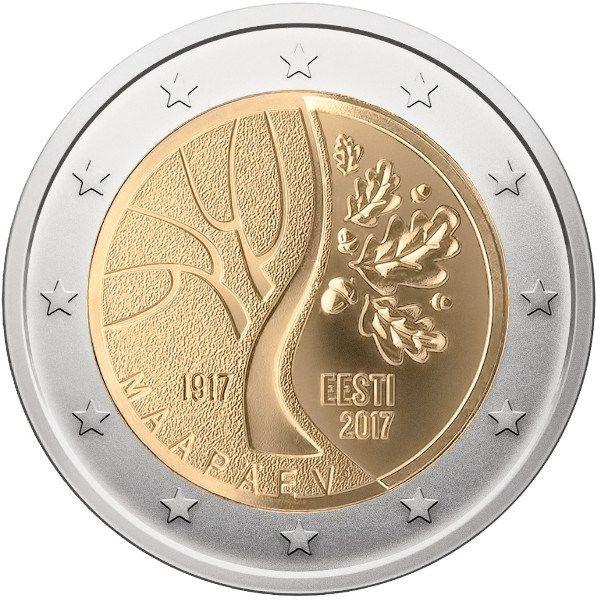 Moneda 2 Cc Estonia 2017 Camino A La Independencia Monedas De Euro Monedas Sellos