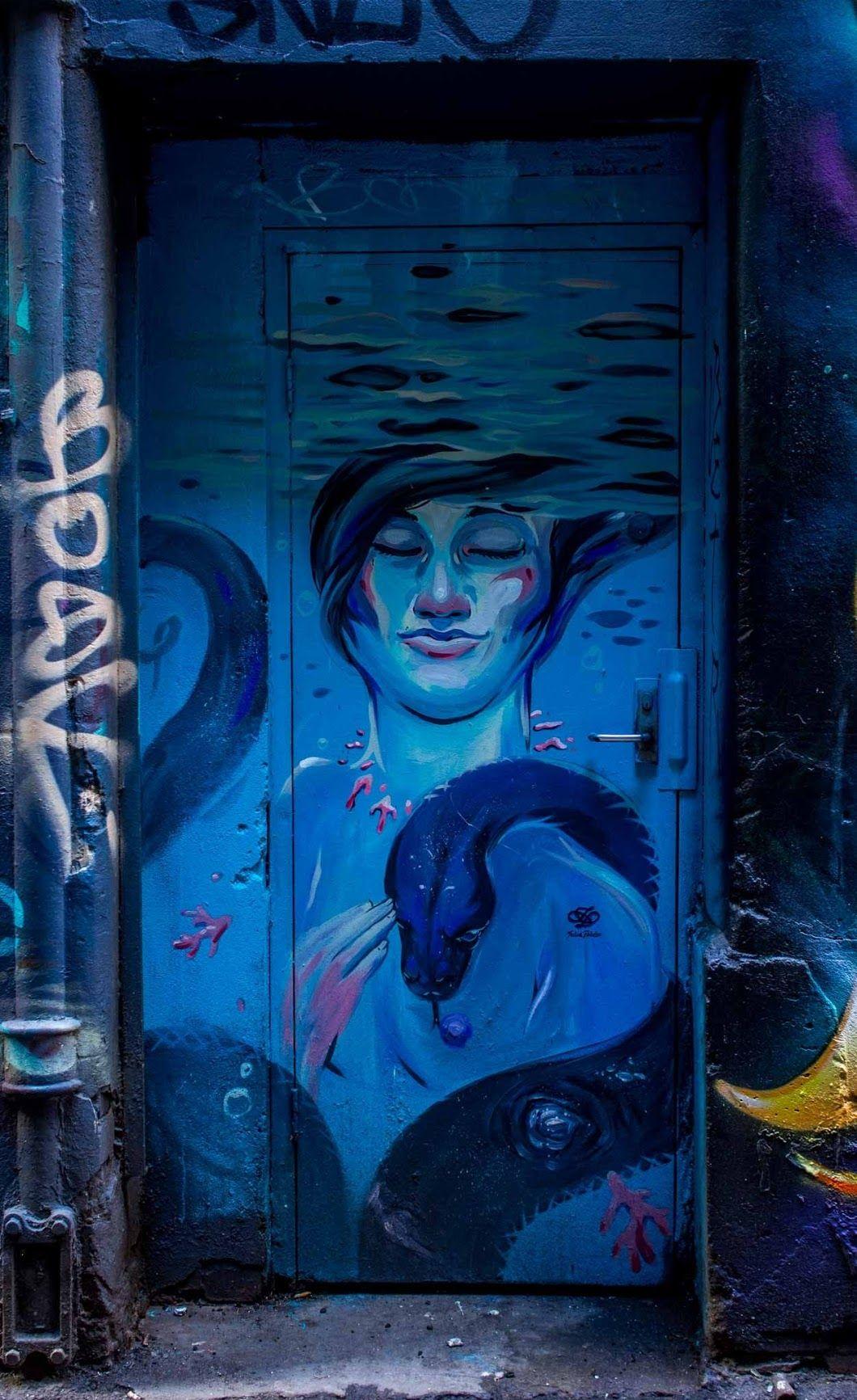 Great doorway in Flinders Crt Melbourne ##graffiti ##art ##streetart ##melbourne ##MOS2016 ##meetingofstyles - Tony P - Google+