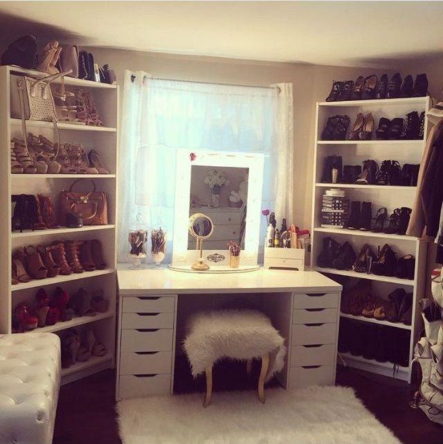 Makeup vanity with storage | home decor | Pinterest | Makeup ...