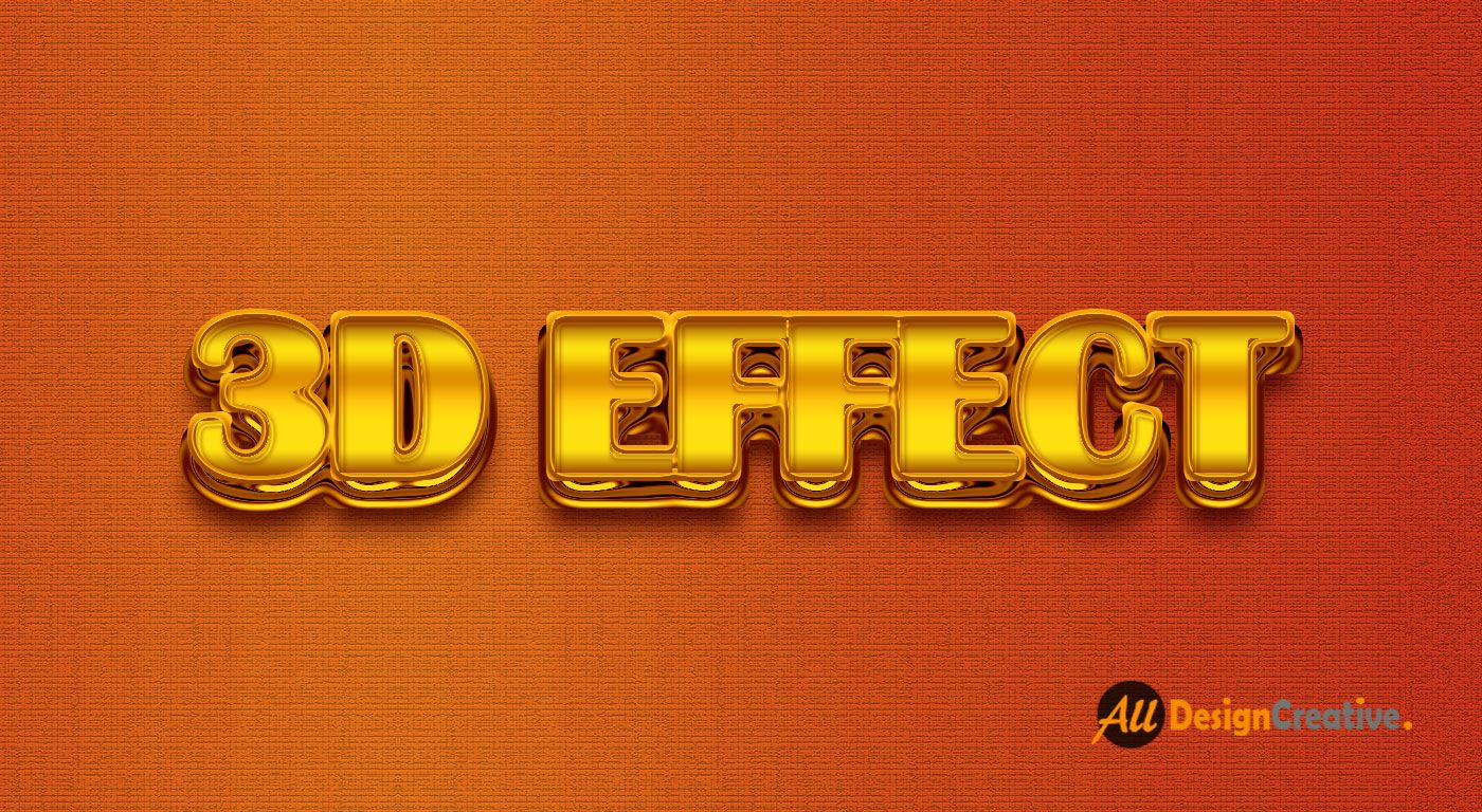 Realistic 3D Gold Text Effect Photoshop PSD | Text Effect PSD Files