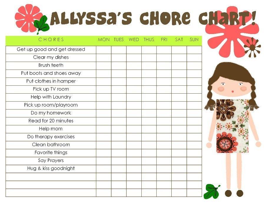 chore chart Chore chart, Chore chart kids, Chores