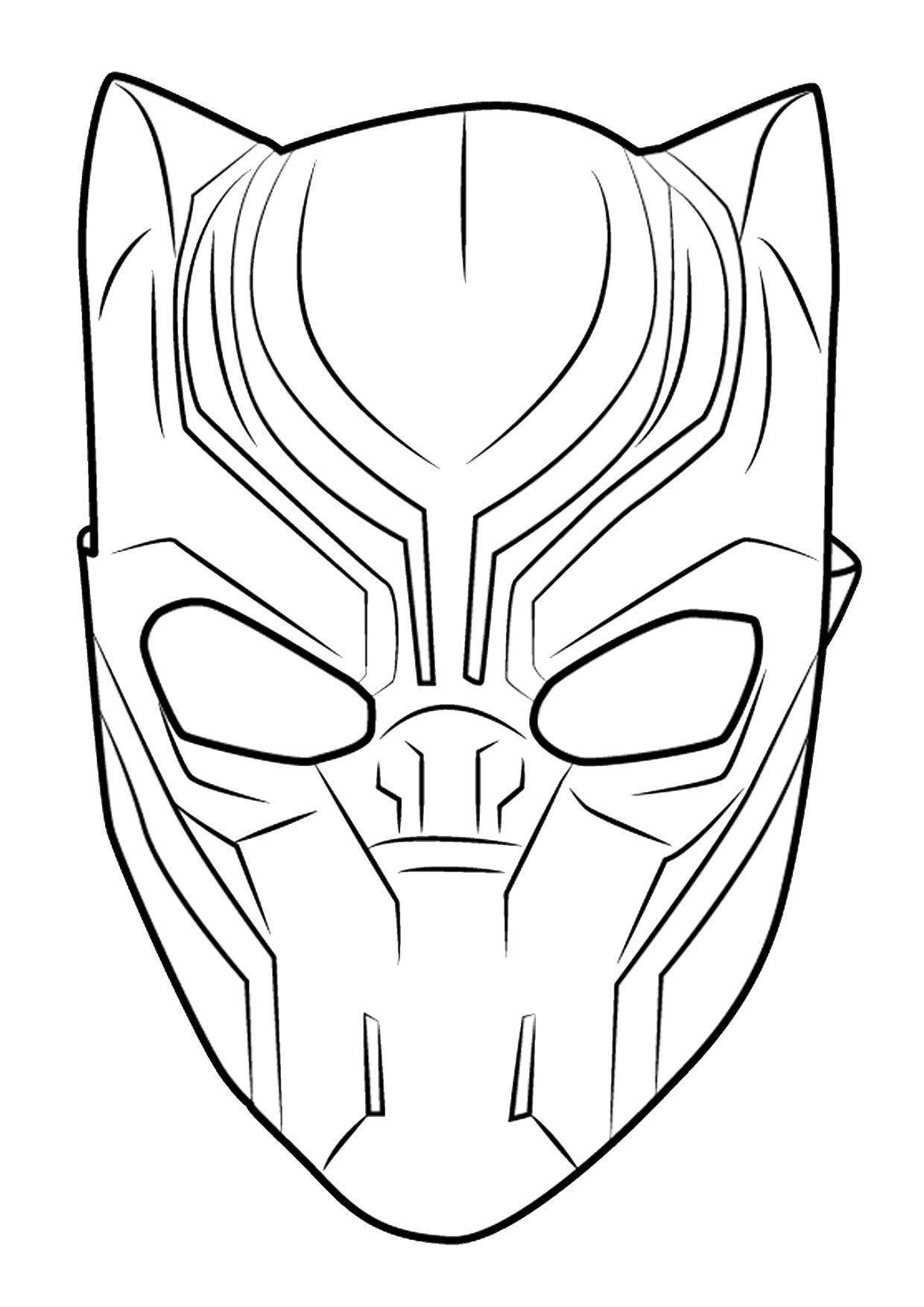 12 Disegni Di Black Panther Da Colorare Maschera Pinterest