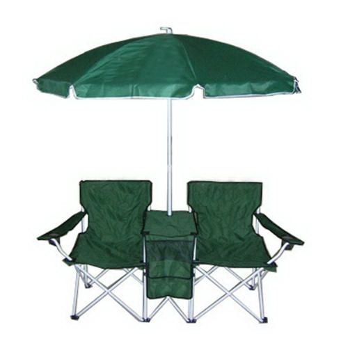Double Beach Chair With Table And Umbrella