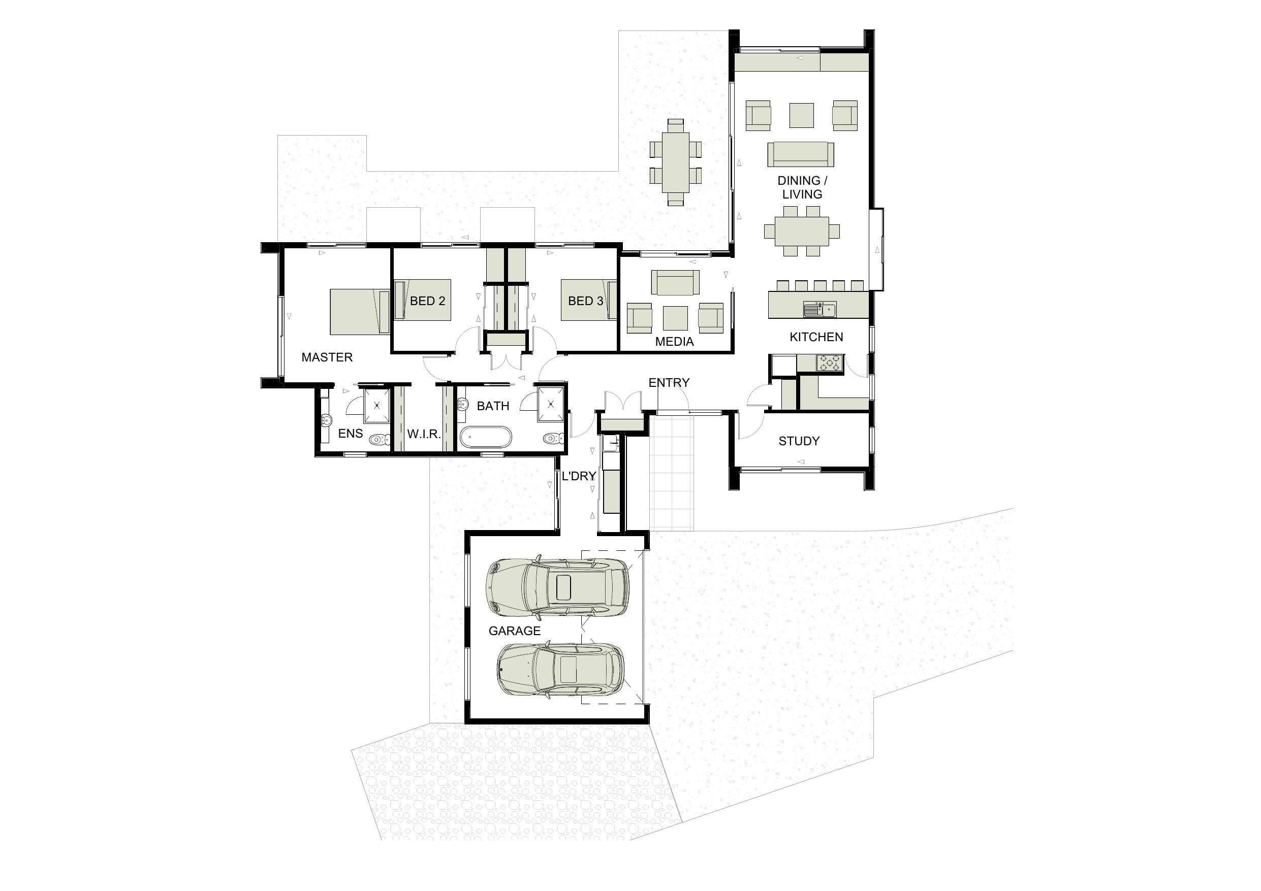 House plans pavilion style