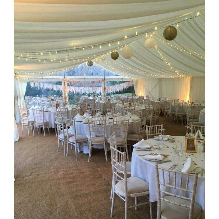 Ivory Gold And Nude Marquee Wedding Venue My Wedding Pinterest