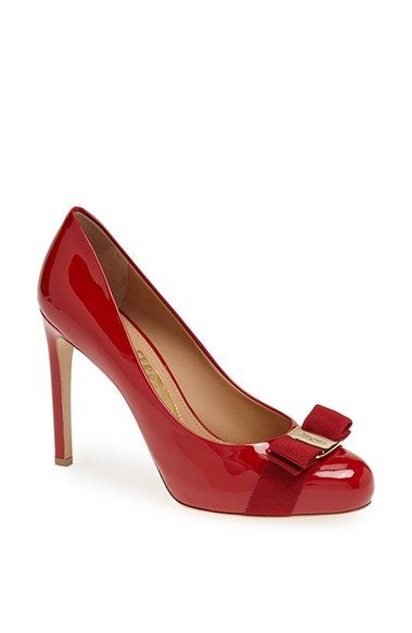 sale genuine discount deals Salvatore Ferragamo Bow Round-Toe Pumps cheap perfect Lml56FvF