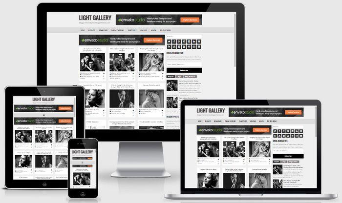 Light Gallery Blogger Template Blogger Tips And Tricks Blogger Templates Blogger Tutorials Light