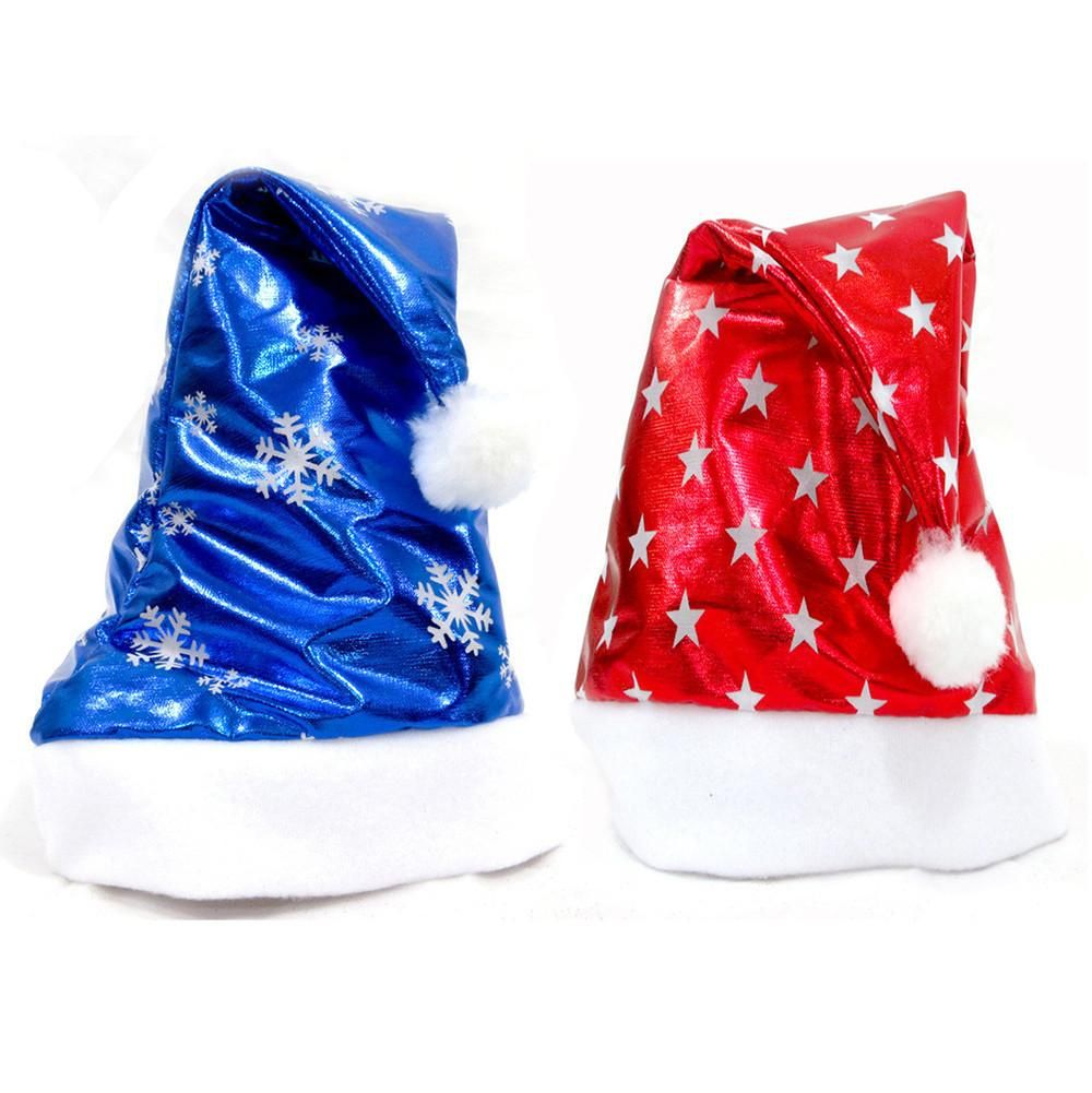 Buy Pcs Christmas Party Santa Hat Red And Blue Cap for Santa Claus