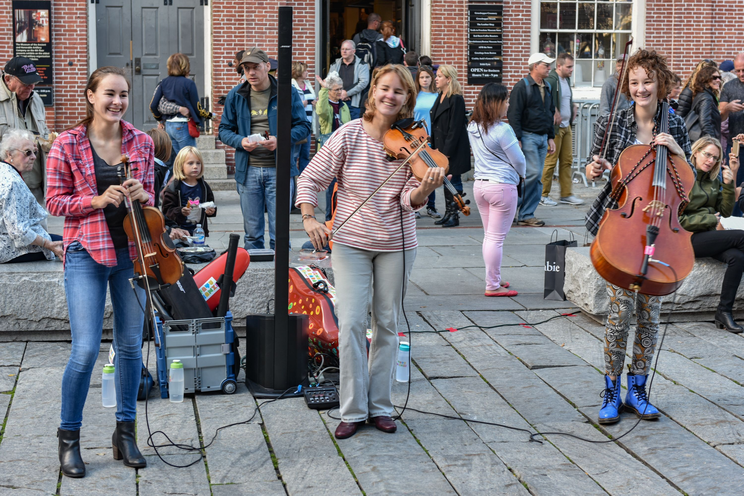 Classical street musicians like our page for a photo every