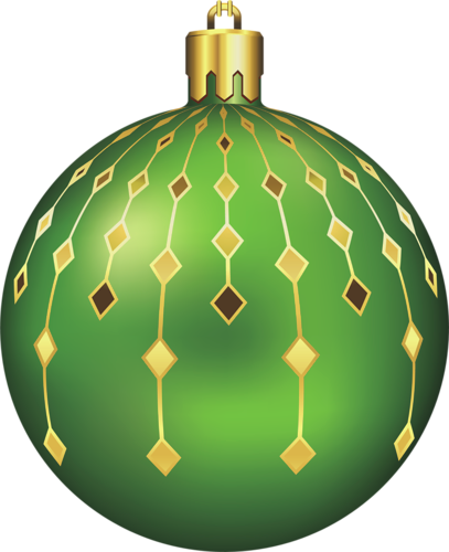 Large Transparent Green Christmas Ball Clipart Christmas