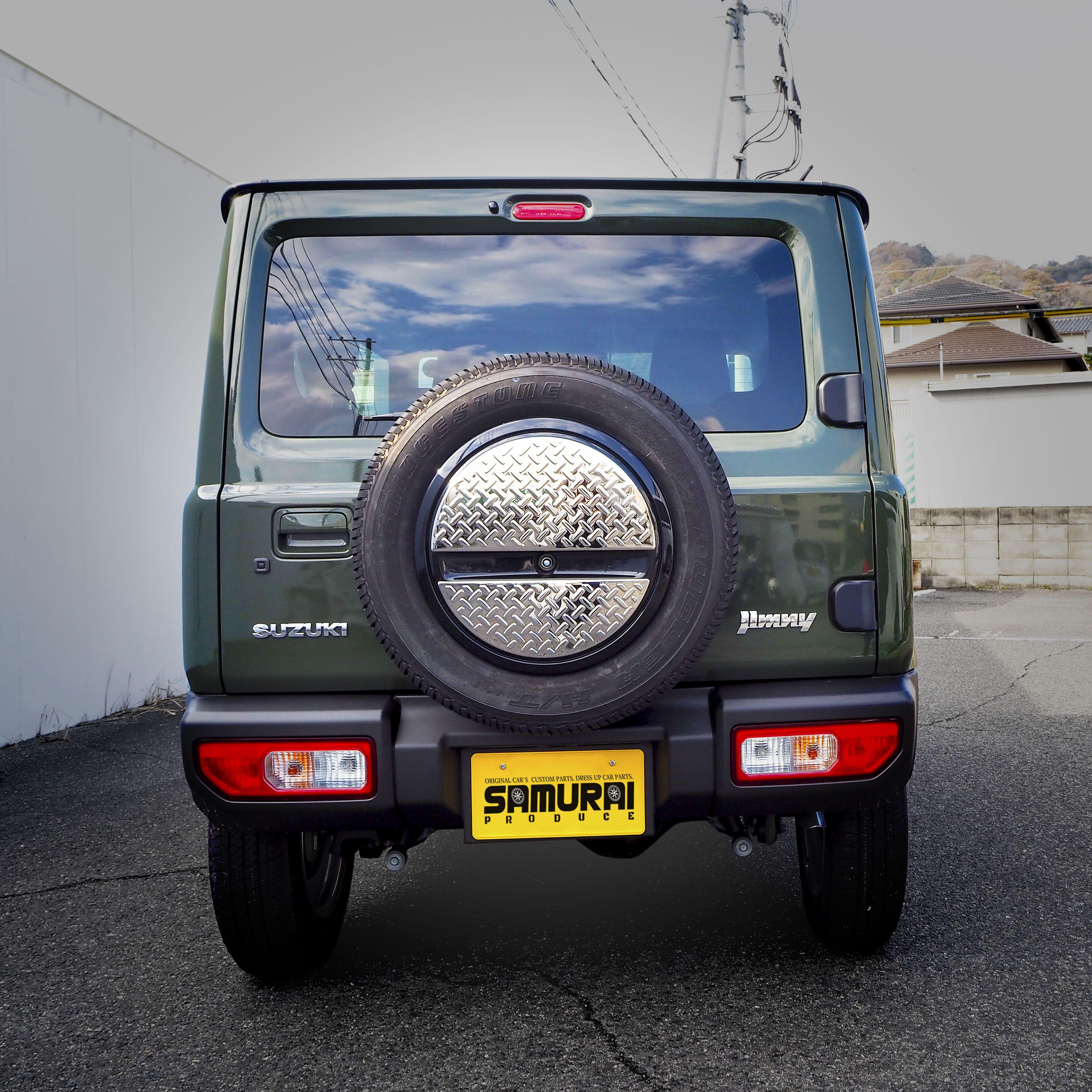 ジムニー スペアタイヤカバー 2p Jimny Jb64w 選べる4カラー 鏡面仕上げ シルバーヘアライン ブラックヘアライン 艶有りカーボン調 Suzuki カスタムパーツ ジムニー スペアタイヤカバー タイヤカバー