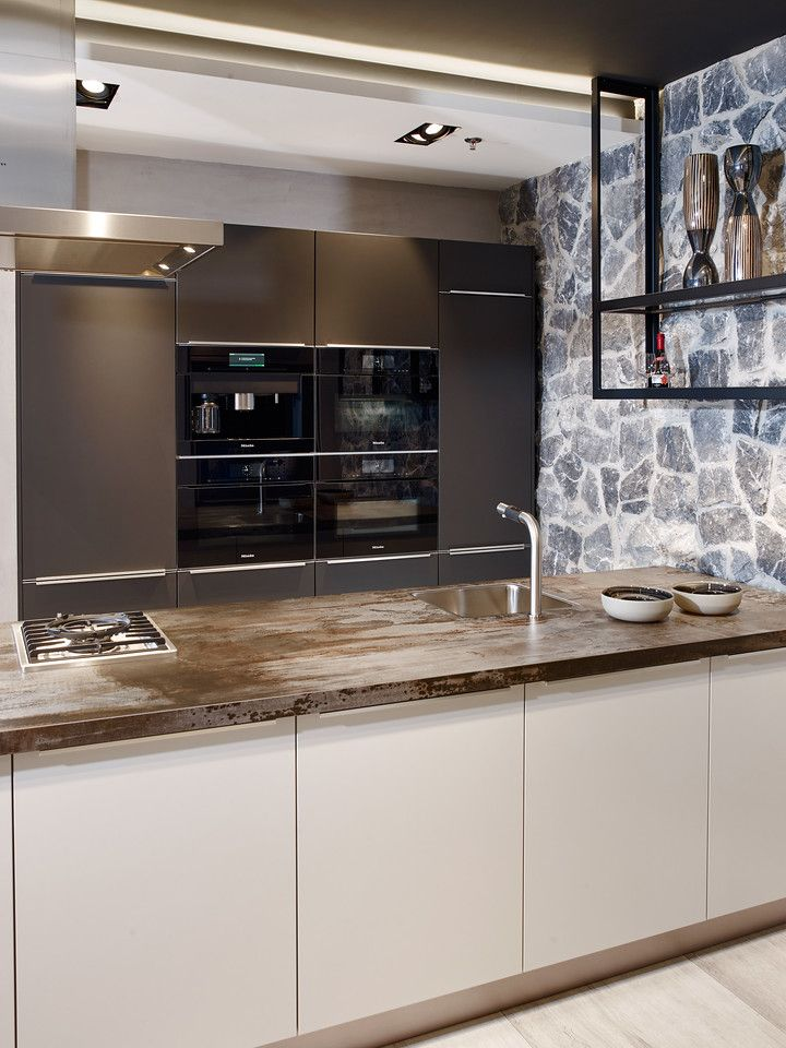 Tieleman Keukens - Next125 keuken in kristalgrijs - Hoog ...