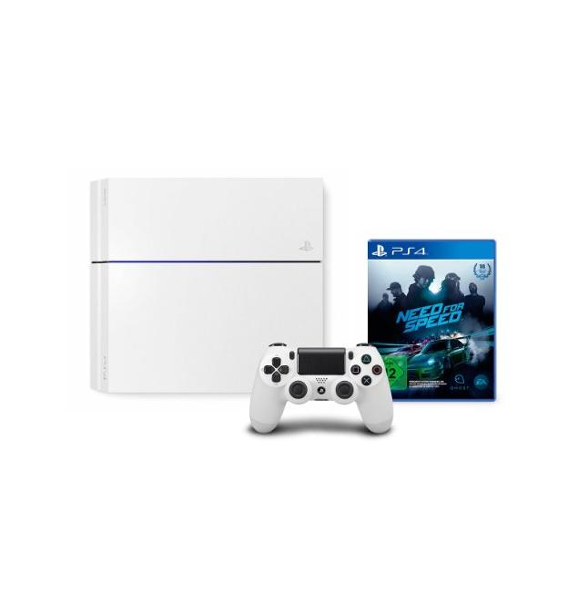 [ABGELAUFEN] PlayStation 4 – Konsole (500GB, weiß) [CUH-1216A] + Need for Speed