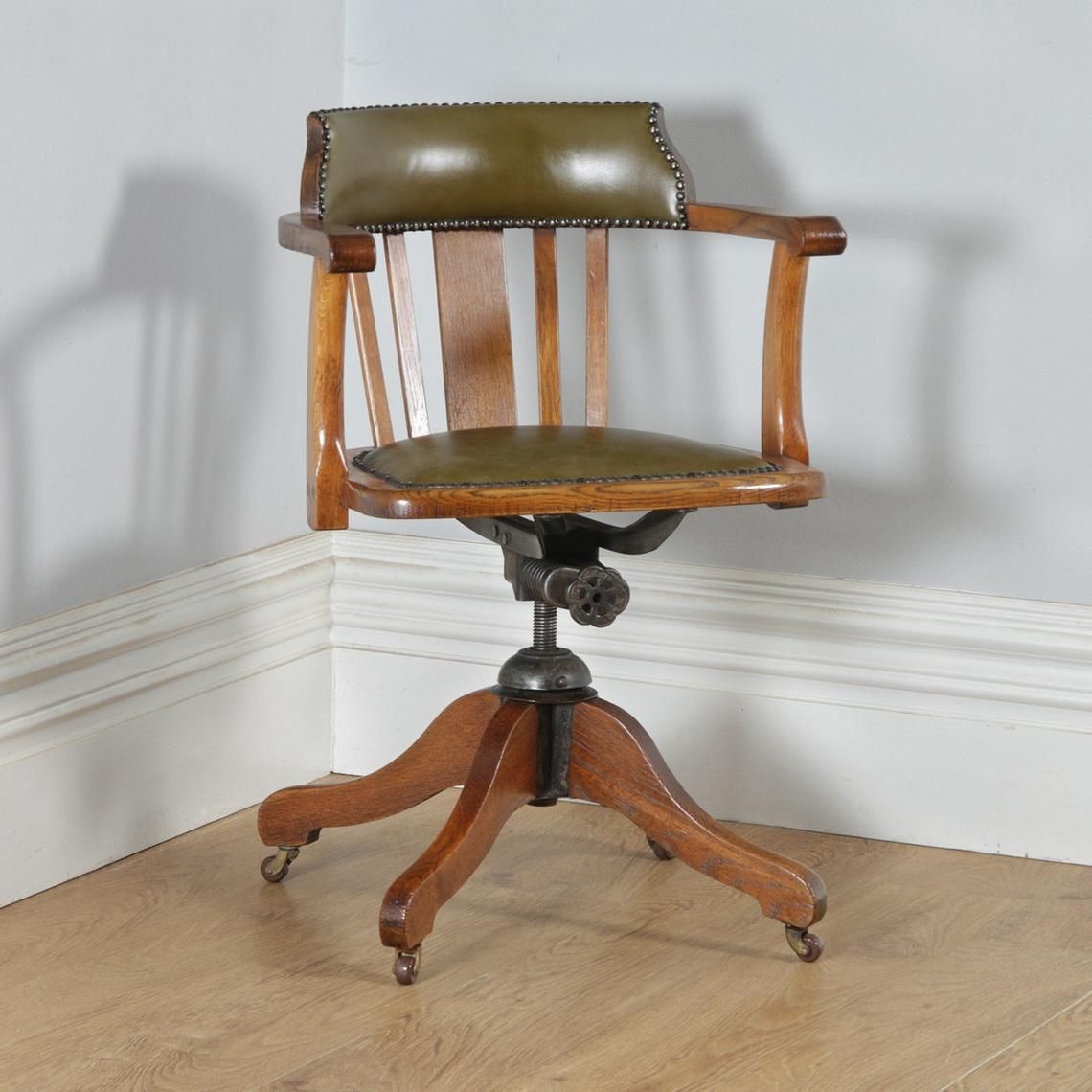 Image 0 Antique Desk Chair Office Armchair Chair