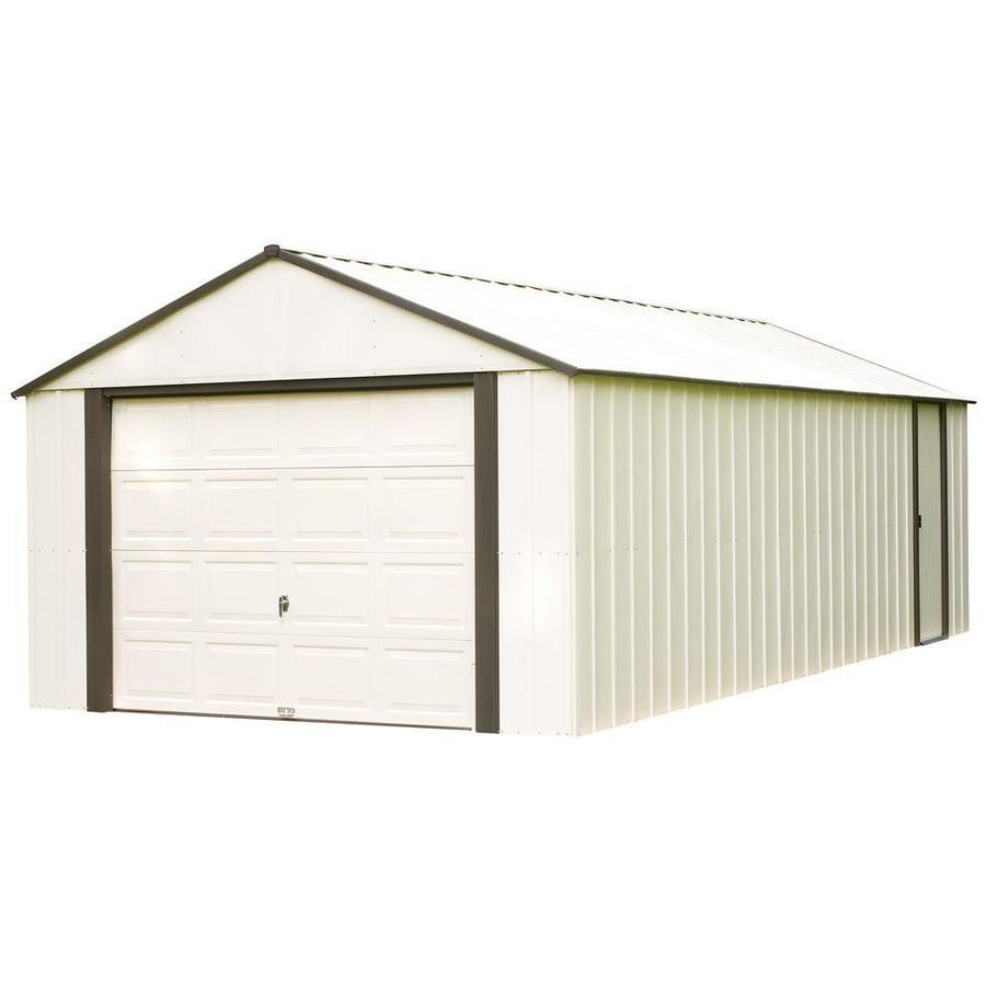 Arrow Vinyl Coated Steel Storage Shed Common 12 Ft X 10 Ft Interior Dimensions 11 76 Ft X 9 31 Ft Steel Storage Sheds Shed Storage Diy Storage Shed
